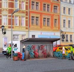 315-38143 Deko-Set Fahrradständer Kibri