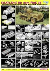 318-500776676 Sd.Kfz.10/5 für 2cm Flak Drago