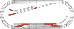 321-42013 Gleisset E ROCO-LINE mit Bettu