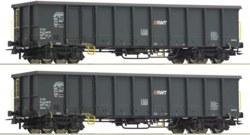 321-76099 2-tlg. Set: Offene Güterwagen
