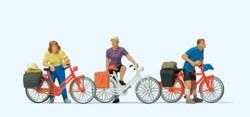 324-10637 Stehende Radfahrer an der Bahn