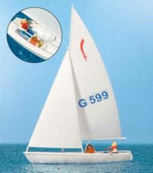 324-10677 Segler (2), Segelboot Korsar