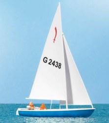 324-10679 Segler (3), Segelboot Korsar