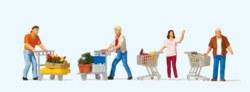 324-10722 Kunden mit Einkaufswagen