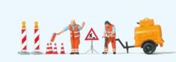 324-10754 Straßenbauarbeiter mit Kompres