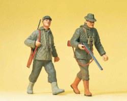 324-45136 Jäger gehend Preiser Figuren,