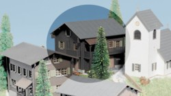 325-37533 Haus 'Alpenrose' Kibri, Maßsta