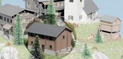 325-37535 Haus ' Edelweiß' Kibri, Maßsta