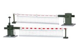 325-5107 Bahnschranke mit Behang, volla