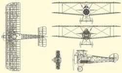 328-650031 Flugzeug Sopwith Camel F.1 Has