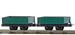 329-12206 2 Niederbordwagen, Feldbahn Bu