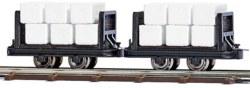 329-12212 2 Wagen mit Zelluloseballen Bu