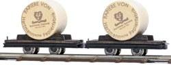 329-12213 2 Wagen mit Papierrollen Busch