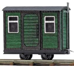 329-12231 Bauwagen Grün, Feldbahn Busch