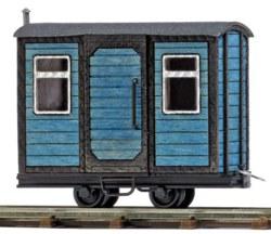 329-12232 Bauwagen Blau, Feldbahn Busch