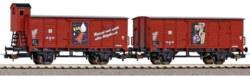 339-58373 2er Set Gedeckter Güterwagen