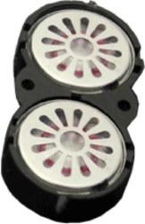 341-50327 Zwei Lautsprecher 16mm, oval,