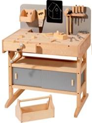 410-4900 Holz Werkbank mit 32 Werkzeuge