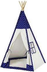 410-8500 Tipi Zelt Sterne weiß / blau i