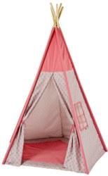410-8501 Tipi Zelt Sterne grau / rosa i