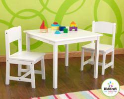 412-21201 Kindersitzgruppe Aspen - weiß