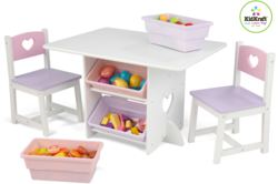 412-26913 Tisch- und 2 Stühle-Set Herzch