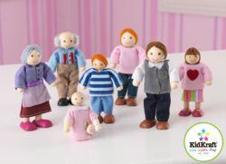 412-65202 Puppenfamilie, 7 Mitglieder Ki