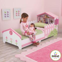 412-76255 Kinderbett mit Puppenhaus KidK