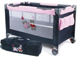 900-34053 Reisebett LUXUS Dessin Pink Ch