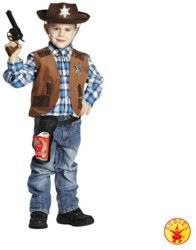 961-12727140 Sheriffweste Kostüm Größe 140