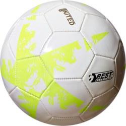 990-10129 Fußball UNITED JR, weiß/gelb
