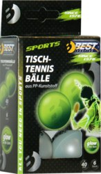 990-23105 Tischtennisbälle, Glow in the