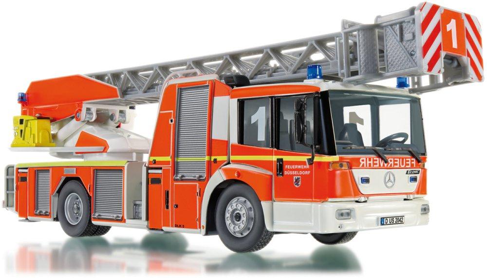 Feuerwehr - Drehleiter L32 Metz (MB Econic) Wiking Modellautos, Maßstab 1:43, Großmaßstäbliche Präzisionsqualität in 1:4